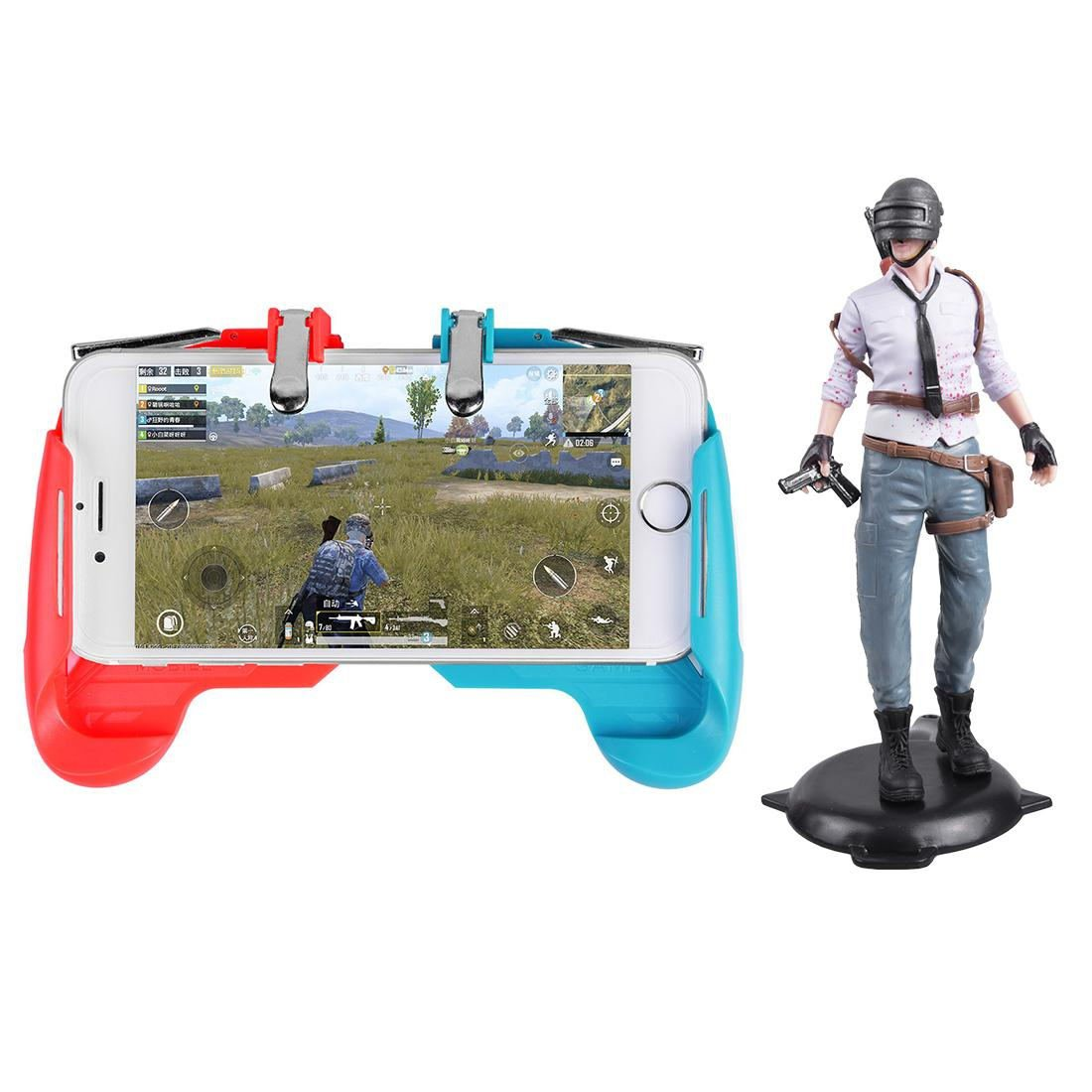 AK16 Phone Game Trigger Handle Grip Red&Blue + Figure Boy