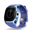 T8 Bluetooth Smart SIM Card Phone Watch Sports Steps Smart Wear Android Watch Blue