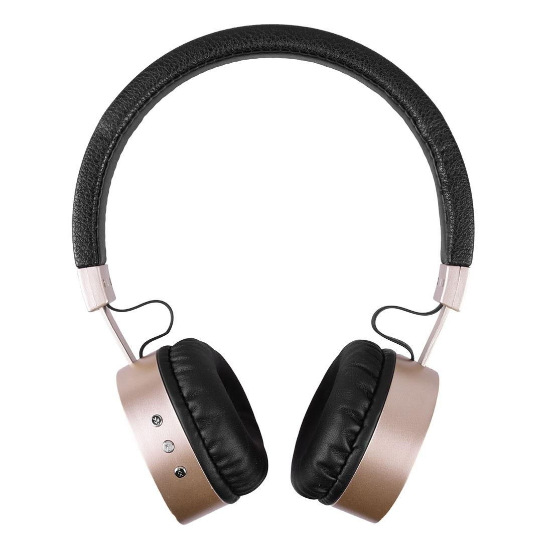 Bluetooth Headset Stereo Bluetooth Metal Earphone Headphone Golden