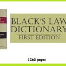 Blacks Law Dictionary 1st Edition 1891 ---eBook--  (pdf) --  (ISBN 78376437511) [Download]