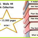 H.G. Wells 44 Book Collection  --- 13,612 pages --- eBook--  (pdf) [Download]