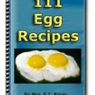 111 Egg Recipes eBook in PDF Format with Digital Delivery! [Download]