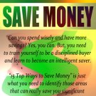 15 Top Ways to Save Money eBook in PDF Format with Digital Delivery!  [Download]