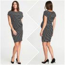 Old Navy Maternity Black/White Stripe Dolman Bodycon Dress Size - Extra Large