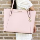 Michael Kors Ciara Large East West Top Zip Tote Pastel Pink Saffiano