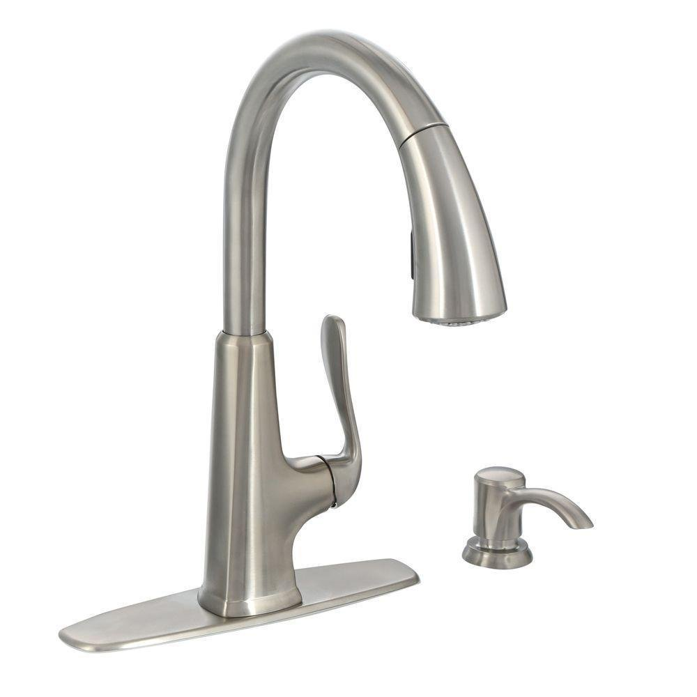 Pfister F-529-7PDS Pasadena Single-Handle Pull-Down Sprayer Kitchen Faucet with
