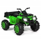 BCP 12V Kids ATV 4-Wheel Ride-On Car w/ 2 Speeds, MP3, Storage