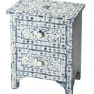 Bone Inlay Wooden Modern Antique Handmade Bedside Furniture