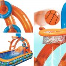 Inflatable Water Park Basketball Pool Slide Outdoor Activity Children Kids Fun