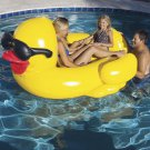 Giant Inflatable Duck Pool Float Yellow Swimming Water Raft Floating Lounge Seat