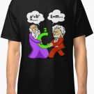 Pythagoras fights Einstein Men's Black Tees Shirt Clothing