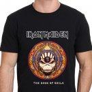 Iron Maiden The Book Of Soul  Trending Design T Shirt Men's Black Size S-2XL