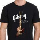 GIBSON LES PAUL Guitar Trending Design T Shirt Men's Black Size S-2XL