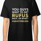 SaveTimeless Men's Black T-Shirt size S to 2XL