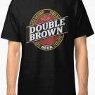 NEW Double Brown beer logo Men Black T-Shirt Size S-2XL
