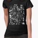 NEW Classic Horror Movies Women Black T-Shirt Size S-XL