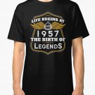 NEW Life Begins At 60 1957 The Birth Of Legends Men Black T-Shirt Size S-2XL