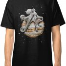 Celestial Cephalopod Mens Black T-Shirt Clothing