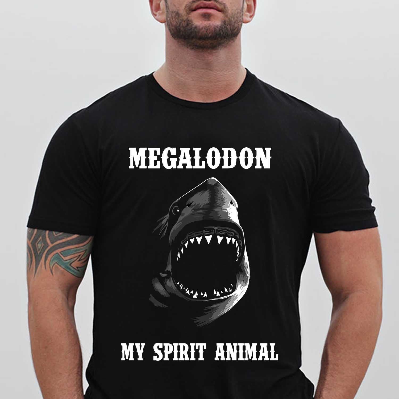 Megalodon Shark My Spirit Animal The Meg Movie Men's Black T-Shirt size S to 2XL