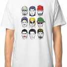 New The Faces of H3H3 Men's White T-Shirt size S to 2XL