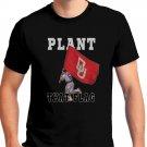 Plant That Flag Black T-Shirt Clothing