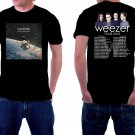 HOT NEW Weezer Tour 2018 Tshirt Black Color Short Sleeve Hot T-Shirts S-2XL