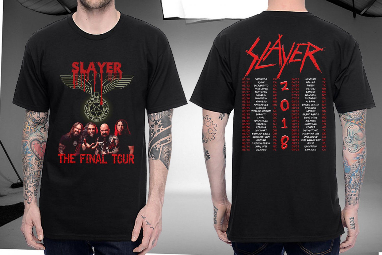 HOT NEW SLAYER Shirt The Final Tour 2018  T-Shirts S-2XL