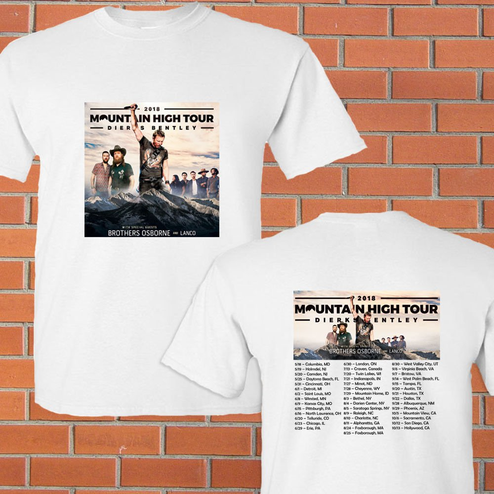HOT NEW New Dierks Bentley north american tour 2018 T-Shirts S-2XL
