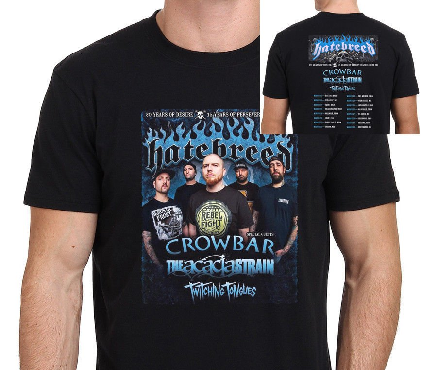 HOT NEW HATEBREED 20 Years of Desire Part II Tour 2018 T-Shirt S-2XL