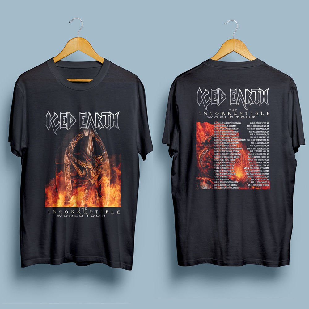 HOT NEW ICE EARTH The Incorruptible world Tour 2018 T-Shirts S-2XL