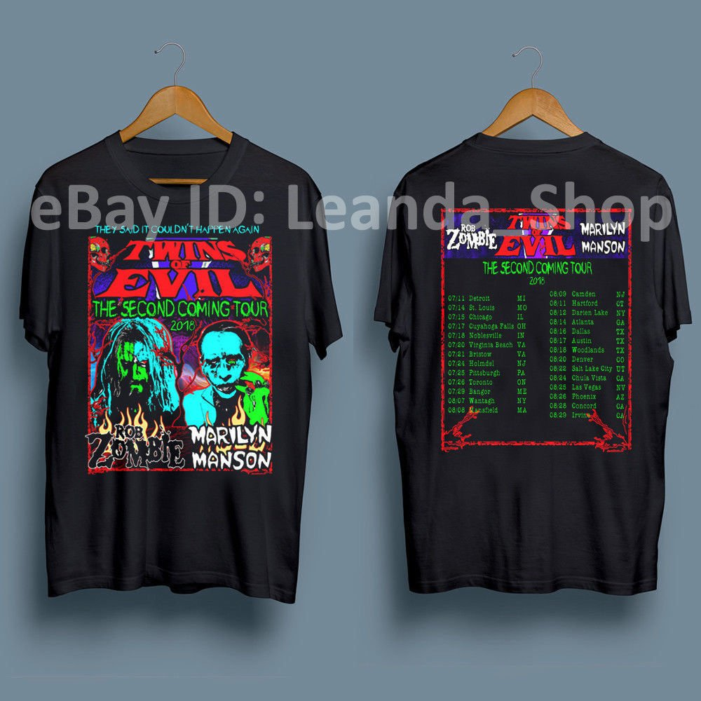HOT NEW Twins Of-Evil-T-Shirt-Rob-Zombie-Marilyn  T-Shirts S-2XL