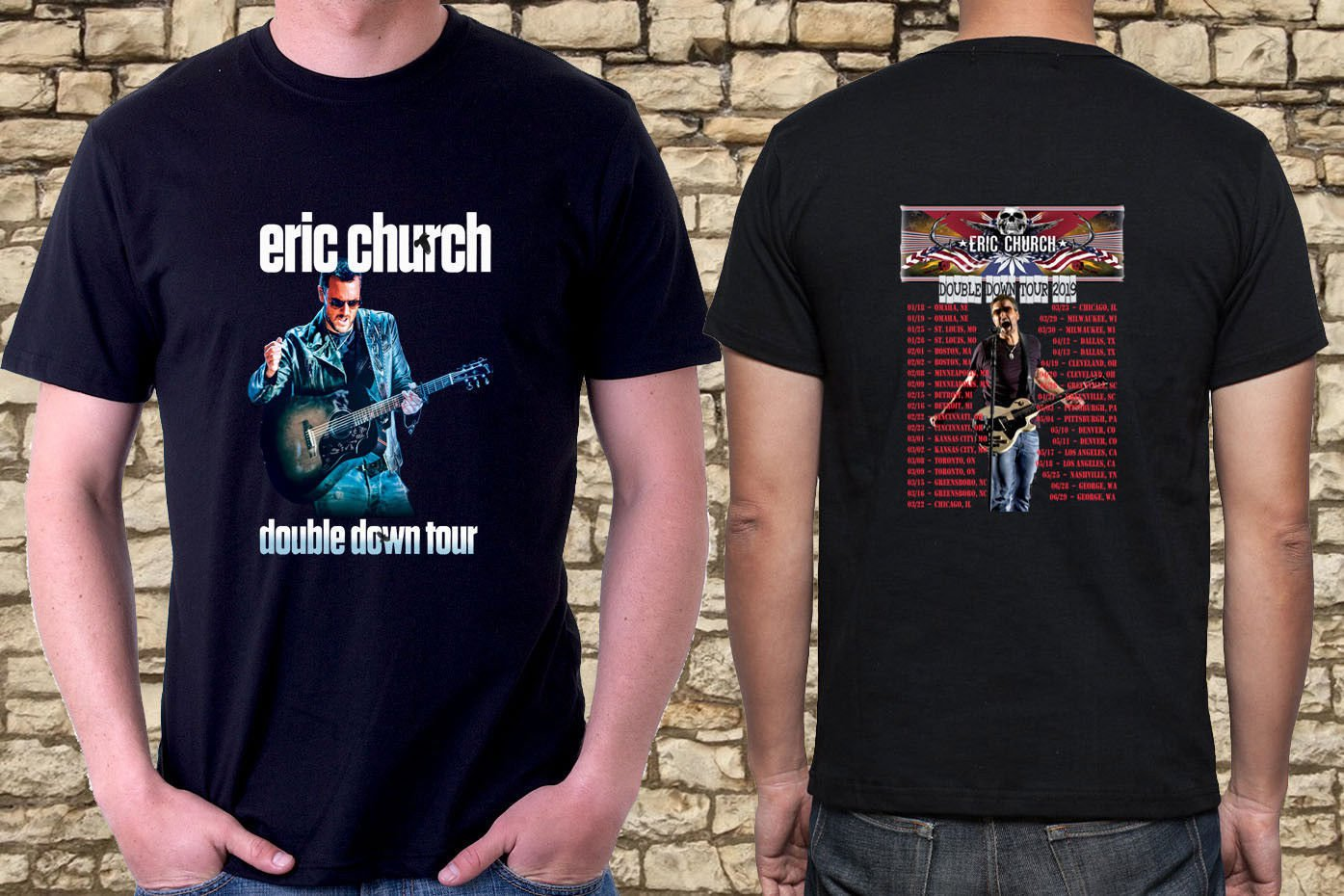 New  Eric-Church-Concert-Tour-date-2019 Black Tee T-Shirt