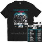 NEW 51289-GENERATION AXE LIVE IN USA 2018 T Shirt Size S-2XL
