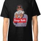 Rich the Kid Trap Talk Men's Black T-Shirt