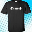 The Damned Punk Band Logo Men's Black T-Shirt Size S-2XL