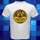 New Sun Record Logo Rock n Roll Music White T-Shirt Size S-2XL