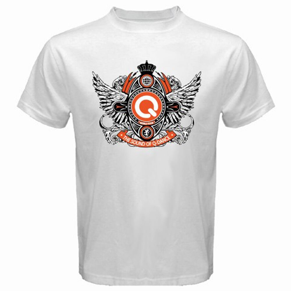 New Q-Dance The Sound of Q Electro House Music Men's White T-Shirt Size S-2XL