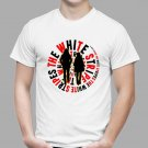 New The White Stripes *Logo Rock Music Duo Men's White T-Shirt Size S-2XL