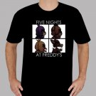New Five Nights At Freddy's Video Game Men's Black T-Shirt Size S-2XL