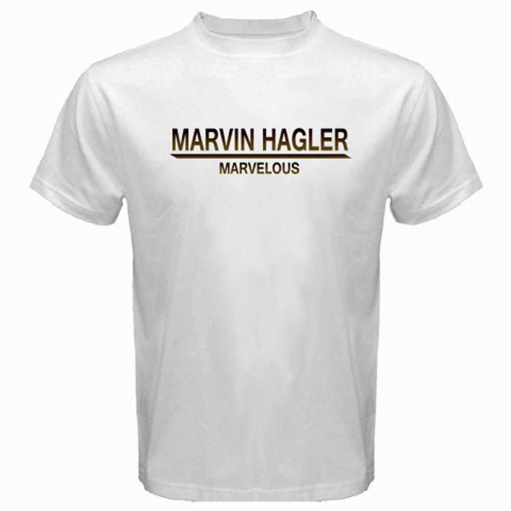 New Marvin Hagler *Marvellous Boxing Legend Champ Men's White T-Shirt Size S-2XL