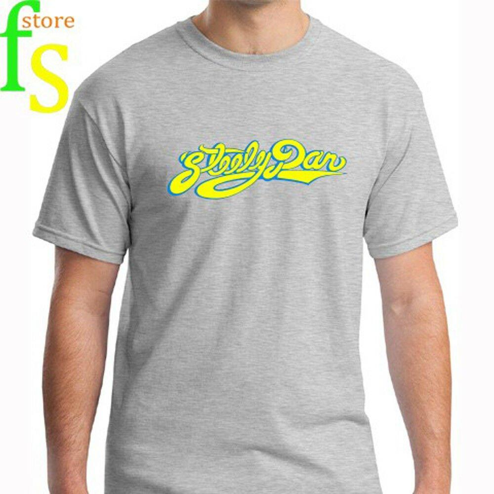 Steely Dan Logo Rock Classic Music Legend AJA Men's White T-Shirt Size S-2XL