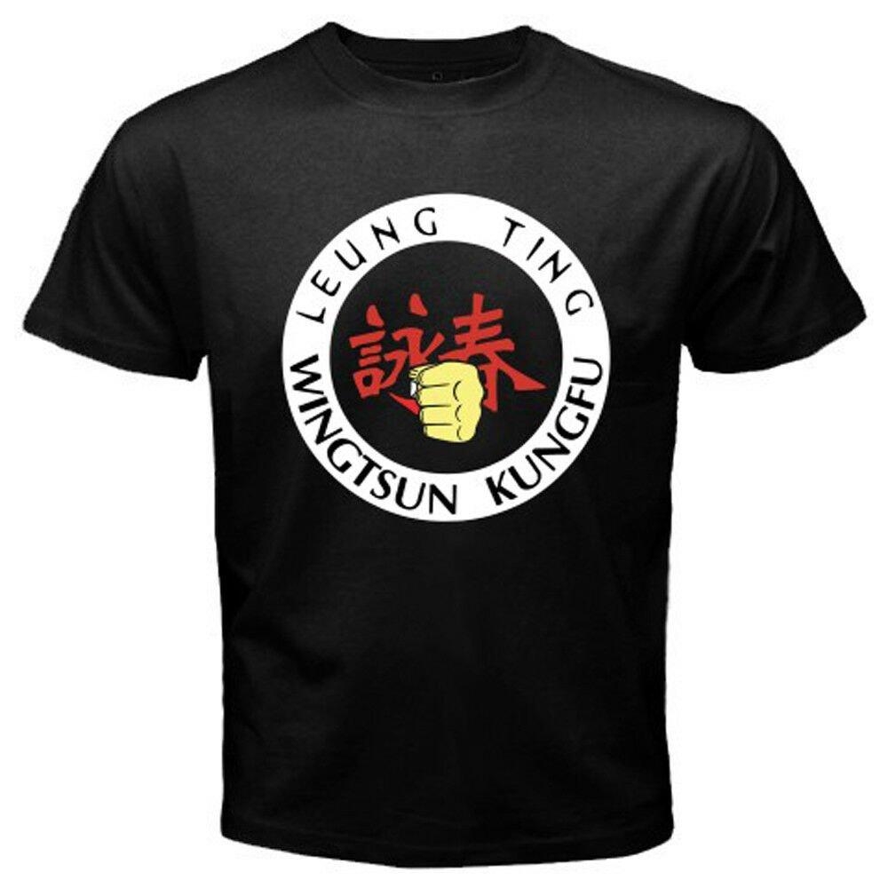 New Leung Tin Wingstun Kung Fu Wing Chun Men's Black T-Shirt Size S-2XL