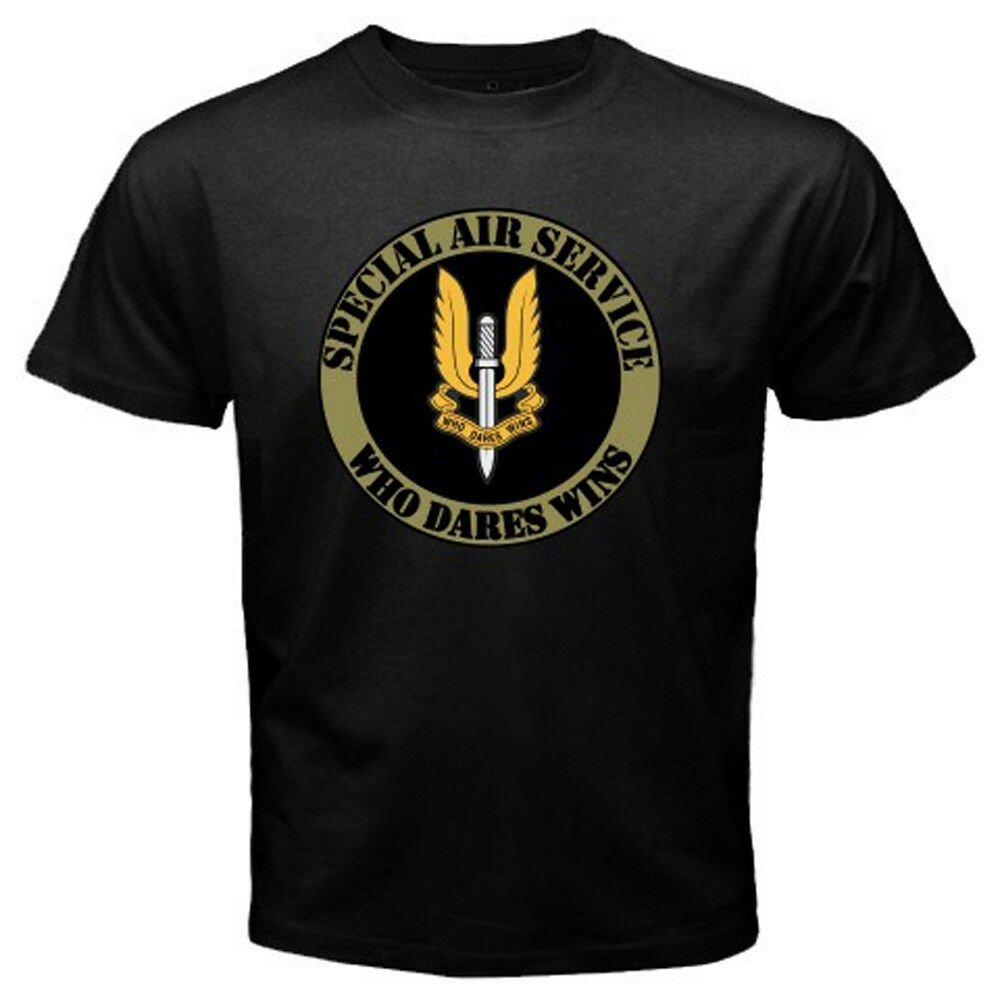 New British SAS Special Air Service Army Logo Mens Black T-Shirt Size S-2XL
