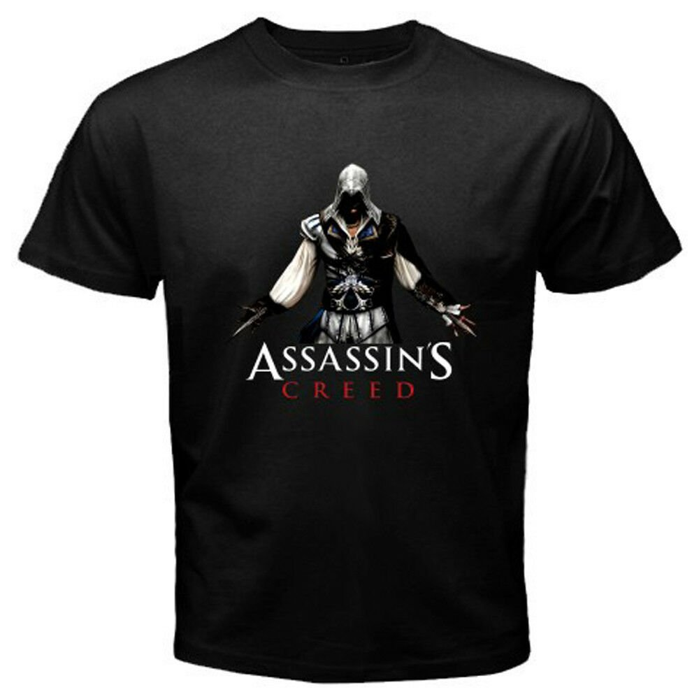 New ASSASIN'S CREED EZIO Famous Video Games Men's Black T-Shirt Size S-2XL