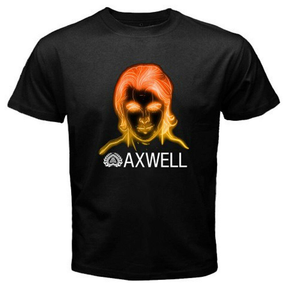 New DJ AXWELL Swedish House Mafia Tour Logo Men's Black T-Shirt Size S-2XL