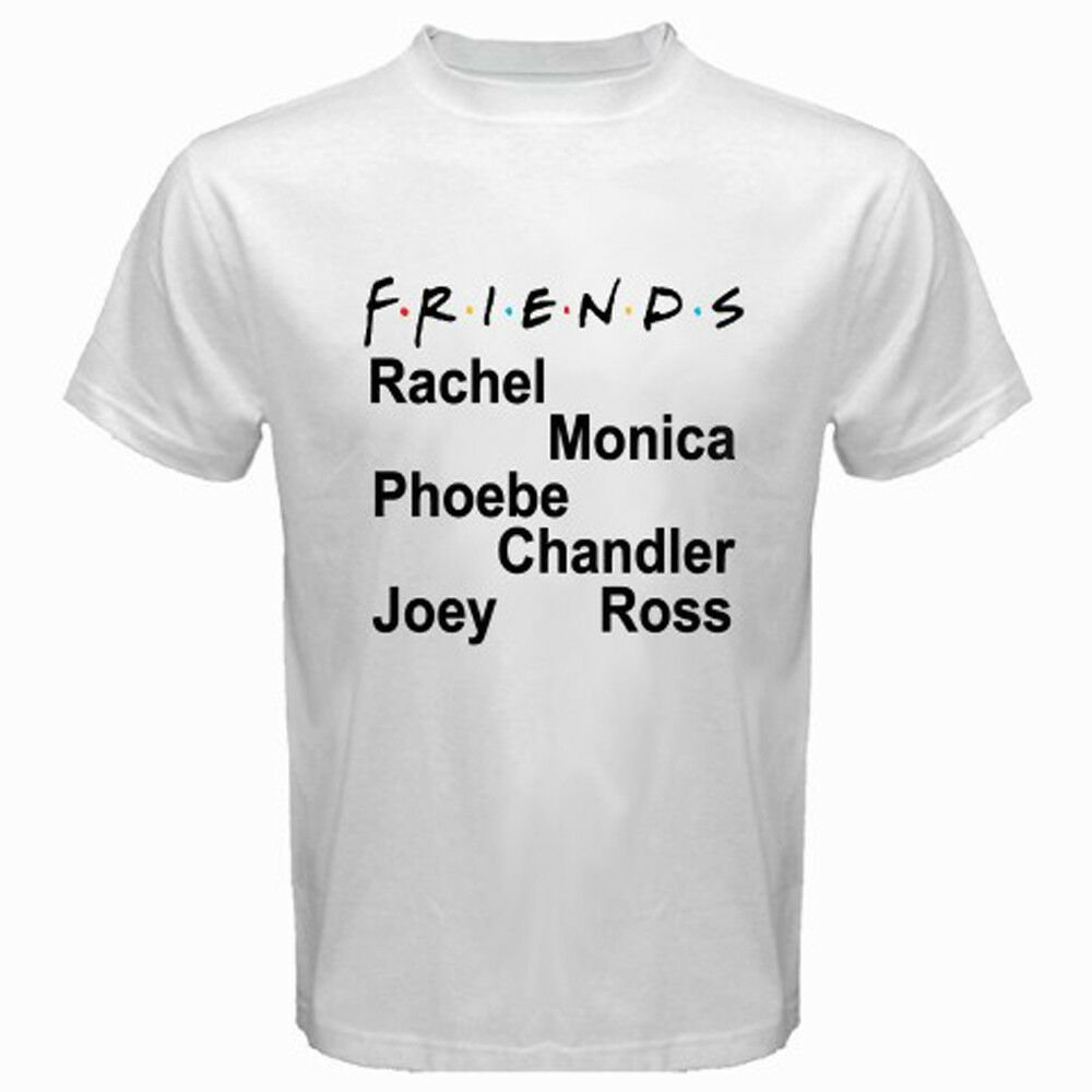 New FRIENDS TV Series Famous TV Show Men's Black T-Shirt Size S-2XL
