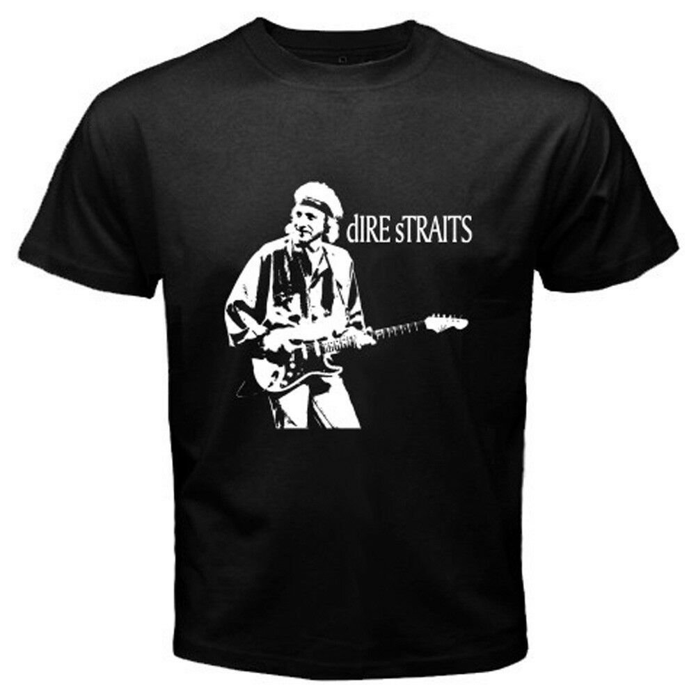 DIRE STRAITS MARK KNOPFLER THE NOTHING Rock Legend Mens Black T-Shirt Size S-2XL