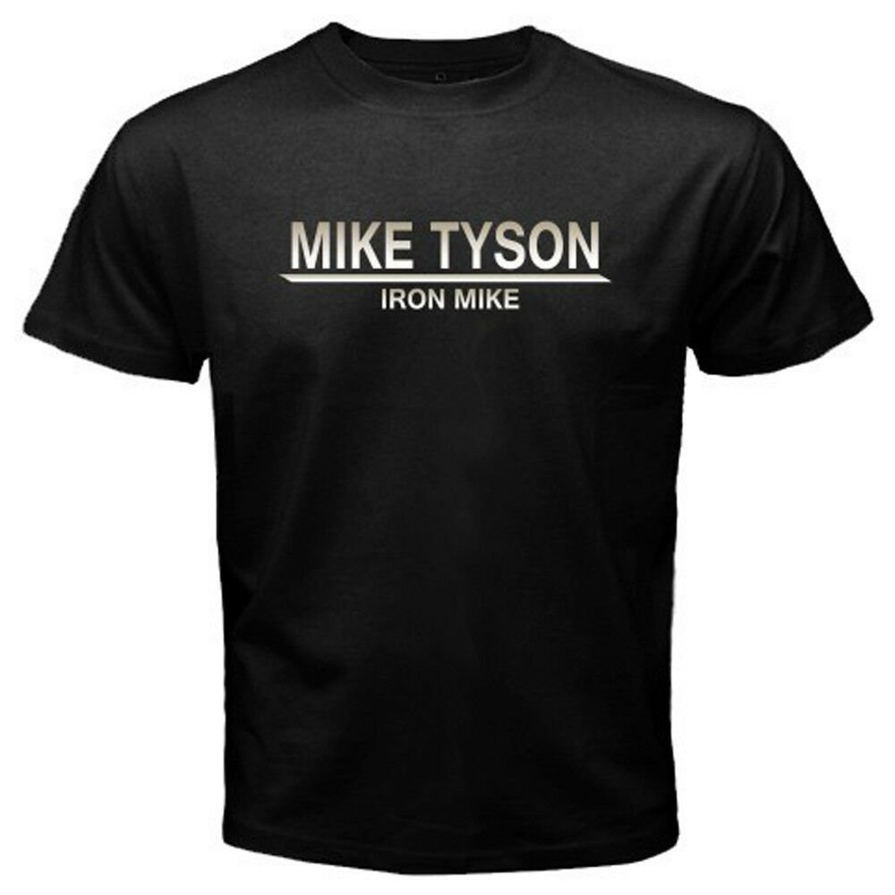 "New Mike Tyson ""Iron Mike"" Boxing Legend Champ Men's Black T-Shirt Size S-2XL"