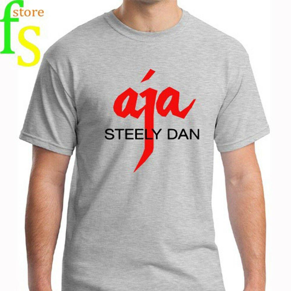 New Steely Dan *AJA Logo Music Legend Men's White T-Shirt Size S-2XL