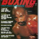 MARVELOUS MARVIN HAGLER BOXING TODAY MAGAZINE NO LABEL 10/1980